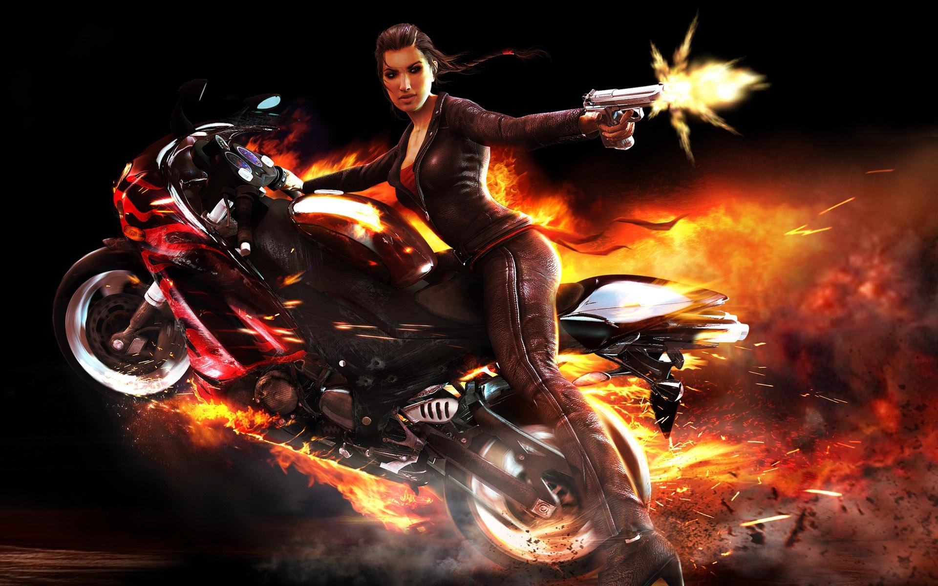 игры на великах и мотоциклов #1