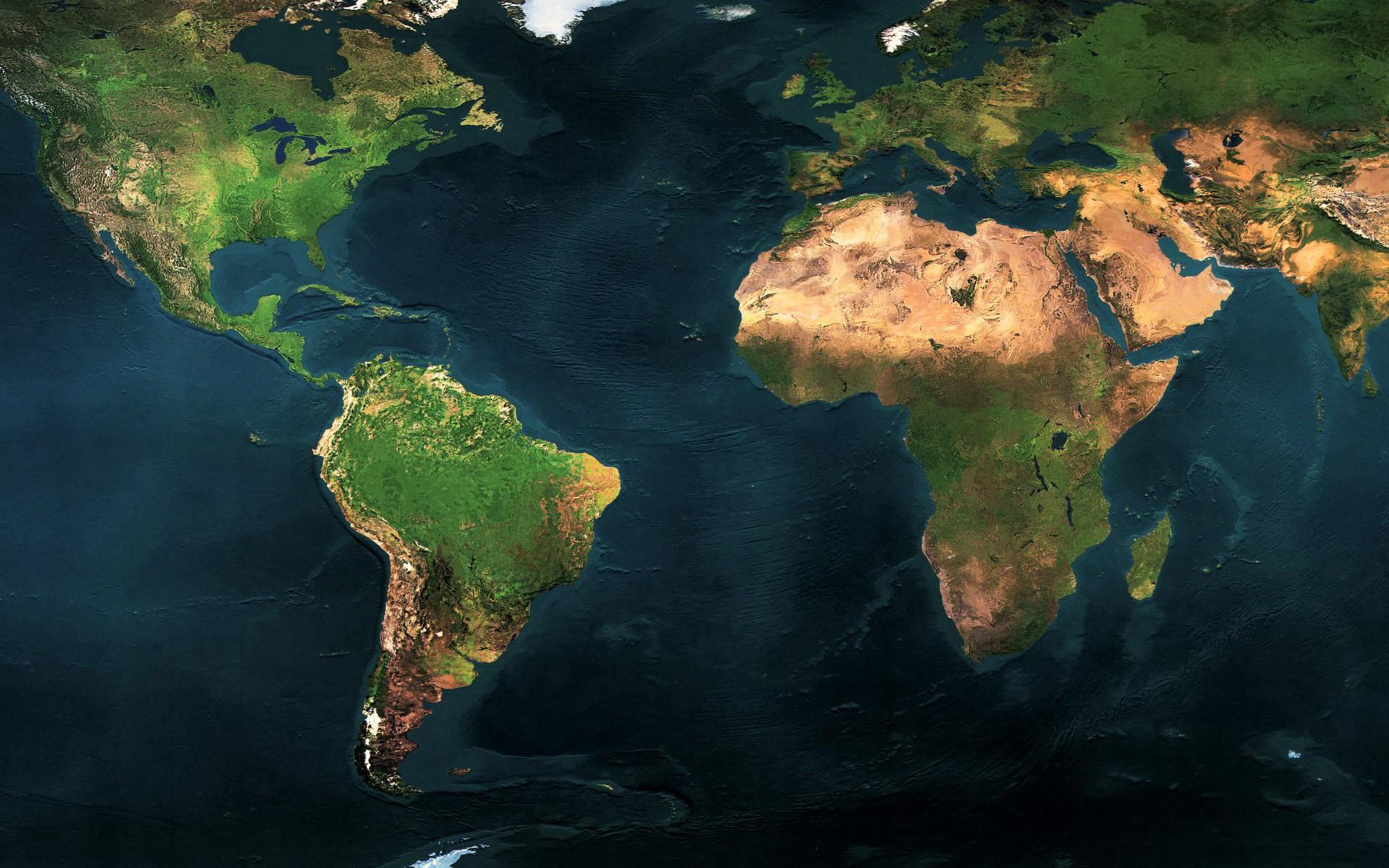Объемная карта мира рельефная океаны