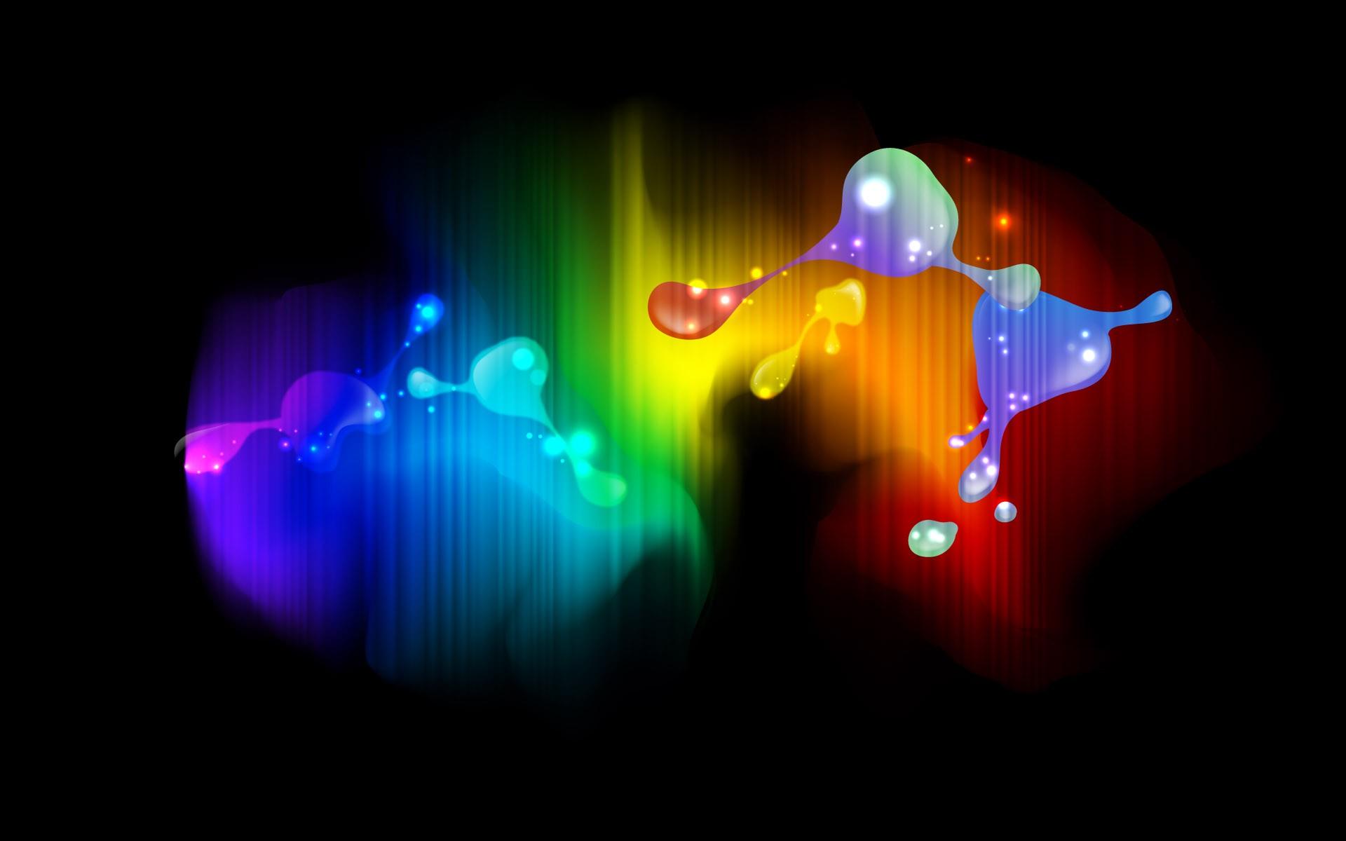 Смешивание красок цвета и света обои