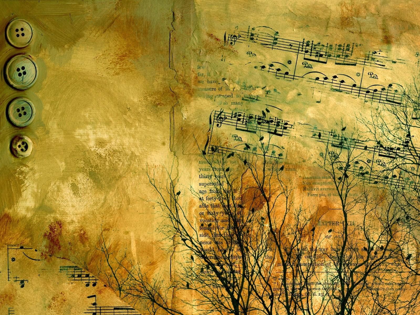 Ноты музыкальная абстракция ноты на