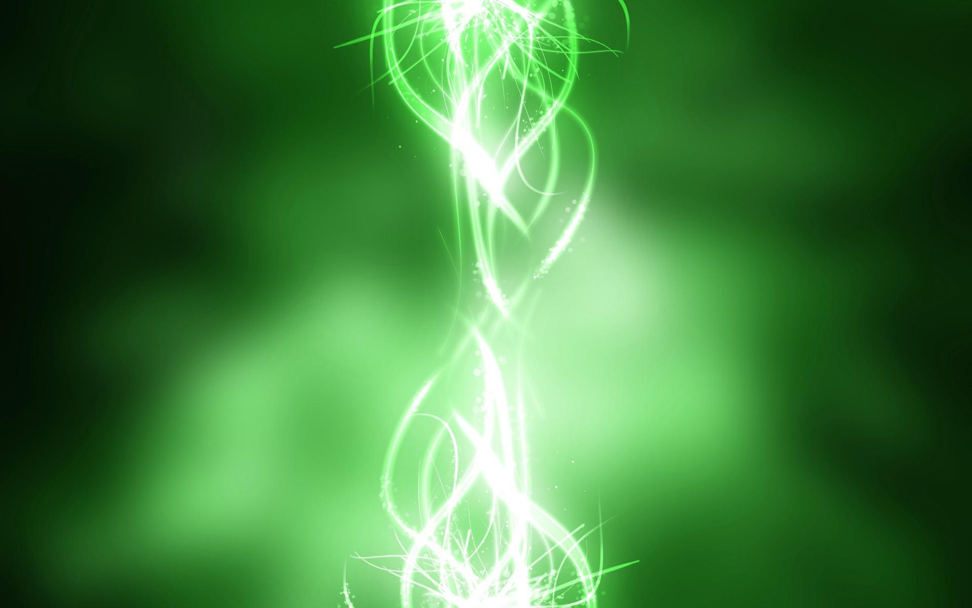 Обои зеленый свет зеленая абстракция