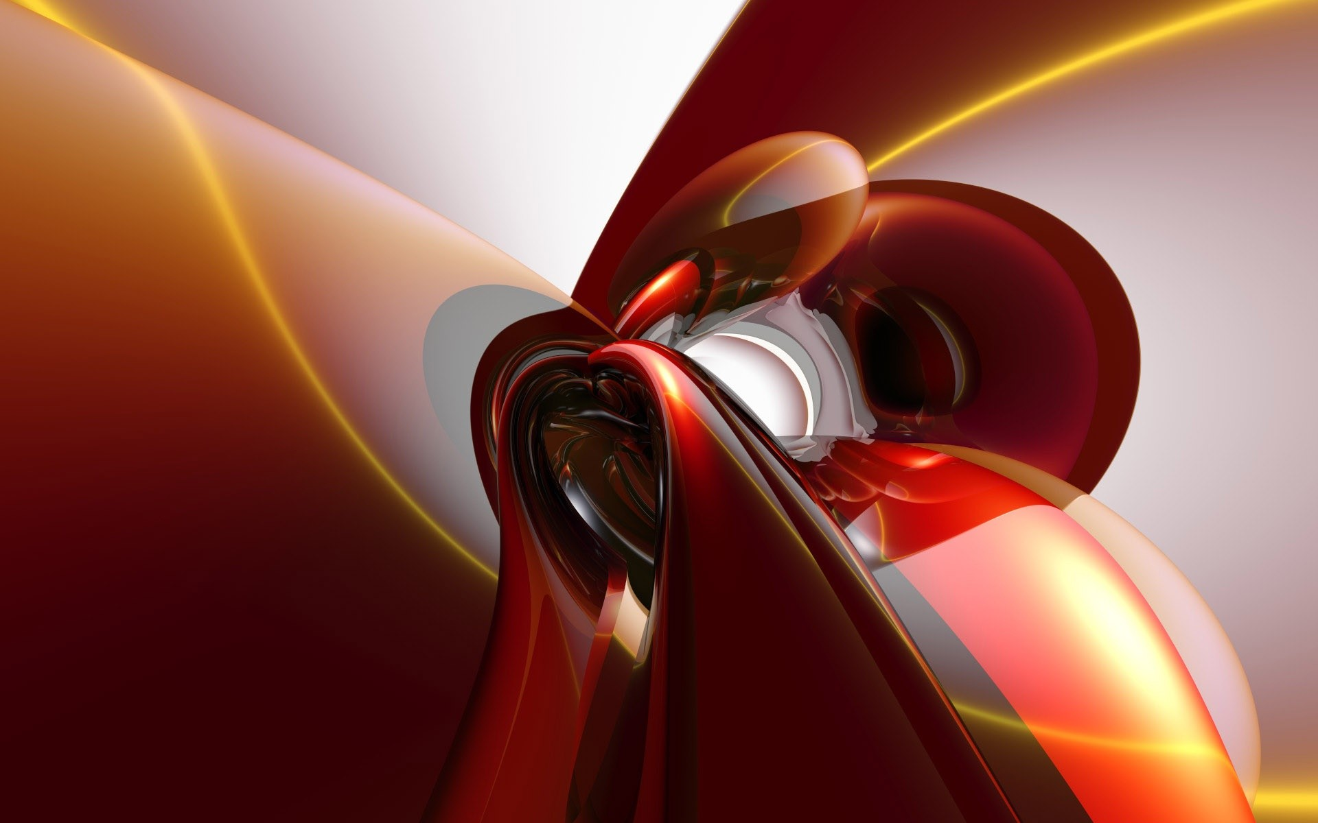 Красные струи абстракция фото