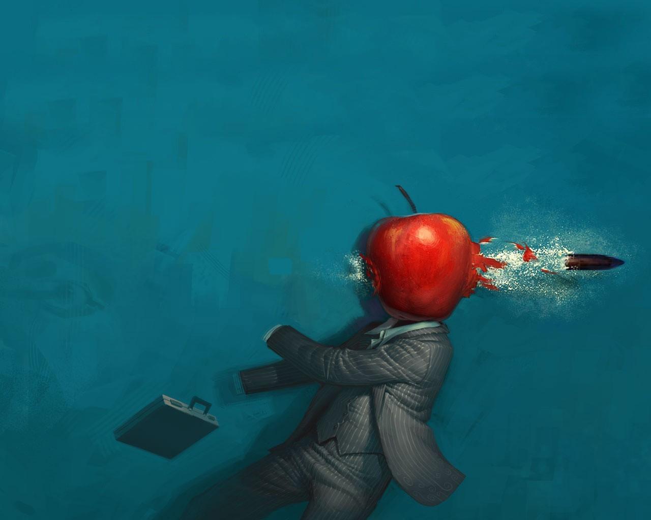 Рисунки на яблоке ножом