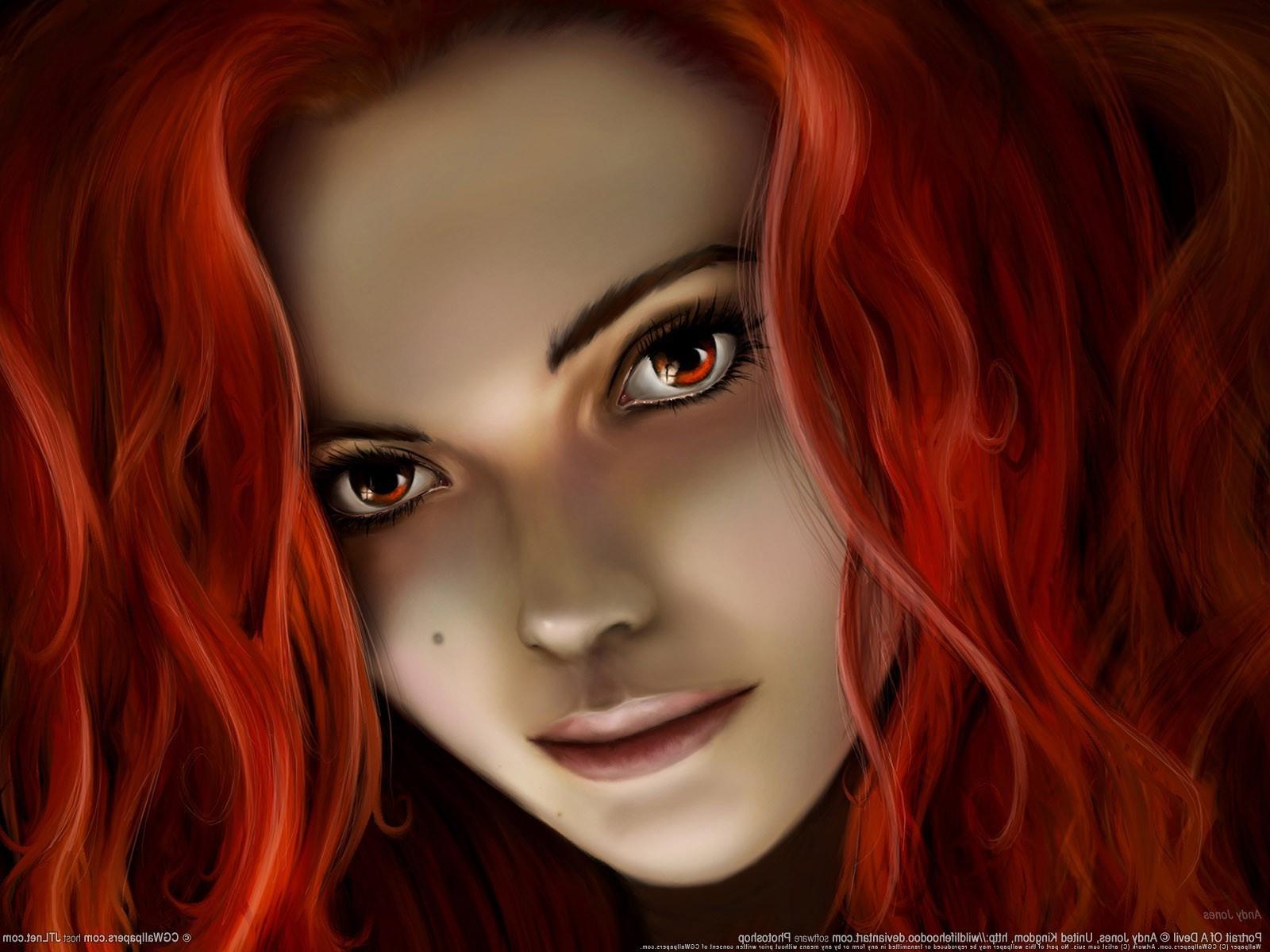 Черно белые картинки девушек с рыжими волосами 16 фотография