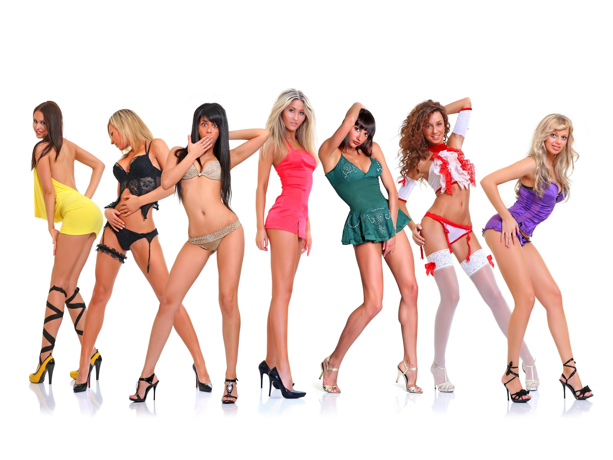 Много девушек в групповом порно 189